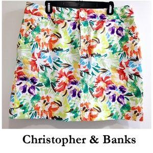 Brightly Colored Floral Skort ~ Skirt & Shorts 14